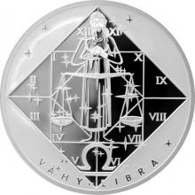 Stříbrná medaile Váhy Znamení zvěrokruhu Proof