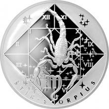 Stříbrná medaile Štír Znamení zvěrokruhu Proof