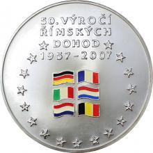 Stříbrná medaile Římské dohody Vznik EU 50. Výročí 2007 1/2 Kg Standard