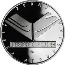 Stříbrná mince 200 Kč MS v lyžování - Liberec 2009 Proof