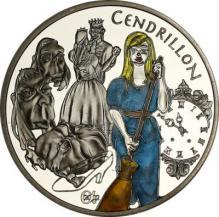Cendrillon 1 1/2 euros (Popelka) Stříbrná pamětní mince