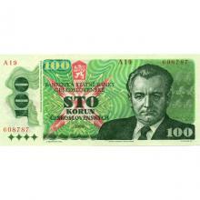 100 Kčs emise 1989
