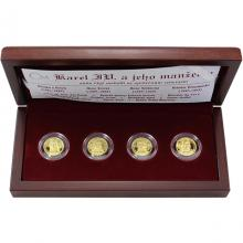 Sada zlatých medailí Karel IV. a jeho manželky 2008 Proof