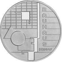 Bauhaus v Dessau Stříbrná pamětní mince 2004 Německo