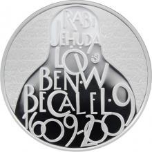 Strieborná minca 200 Kč Rabí Jehuda Löw ben Becalel 400. výročie úmrtia 2009 Proof