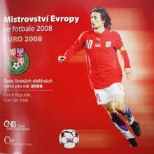 Sada oběžných mincí ČR - ME ve fotbale 2008 Standard