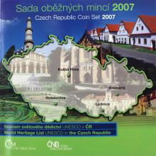 Sada oběžných mincí ČR - Unesco 2007 Standard