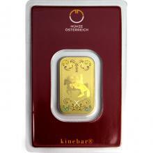 10g Münze Österreich Kinebar Investičná zlatá tehlička