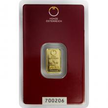 2g Münze Österreich Investičná zlatá tehlička
