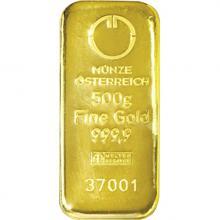 500g Münze Österreich Investiční zlatý slitek