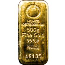 500g Münze Österreich Investičná zlatá tehlička