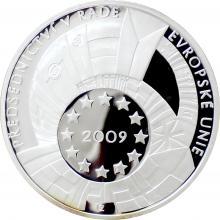 Stříbrná medaile Předsednictví ČR v Radě EU 2009 Proof