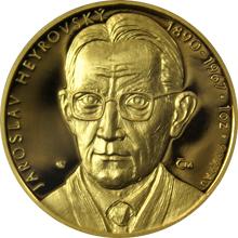 Zlatá uncová medaile Jaroslav Heyrovský 2009 Proof