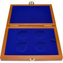 Dřevěná krabička 4 x Ag ČR 36 mm