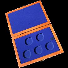 Drevenná krabička 5 x Ag ČR 36 mm
