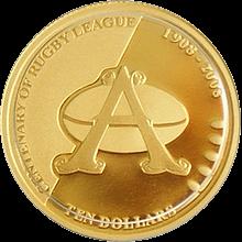 Australská Ragby liga Zlatá mince 2008 Proof