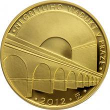 Zlatá minca 5000 Kč Negrelliho Viadukt v Praze 2012 Proof