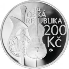 Stříbrná mince 200 Kč Zahájení výuky na pražské konzervatoři 200. výročí 2011 Proof