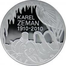Strieborná minca 200 Kč Karel Zeman 100. výročie narodenia 2010 Proof