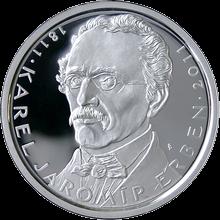 Strieborná minca 500 Kč Karel Jaromír Erben 200. výročie narodenia 2011 Proof