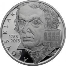 Stříbrná mince 200 Kč Aloys Klar 250. výročí narození 2013 Proof