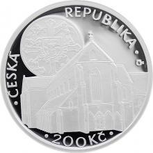 Strieborná minca 200 Kč Založenie kláštora Zlatá koruna 750. výročie 2013 Proof