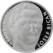 Strieborná minca 200 Kč Jozef Bican 100. výročie narodenia 2013 Proof