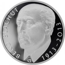 Strieborná minca 500 Kč Beno Blachut 100. výročie narodenia 2013 Proof