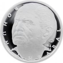 Stříbrná mince 200 Kč Bohumil Hrabal 100. výročí narození 2014 Proof