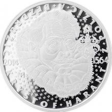 Stříbrná mince 200 Kč Kryštof Harant z Polžic a Bezdružic 450. výročí narození 2014 Proof