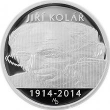 Strieborná minca 500 Kč Jiří Kolář 100. výročie narodenia 2014 Proof