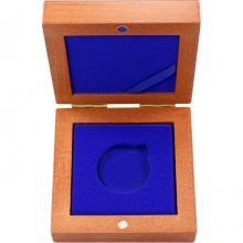Drevenná krabička 1 x Ag ČR 36 mm
