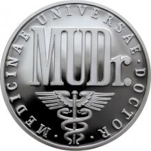 Stříbrná titulární medaile MUDr. Proof