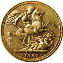Zlatý Sovereign Královna Viktorie 1888