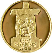 Zlatá čtvrtuncová medaile Olympijské hry Vancouver 2010 Proof