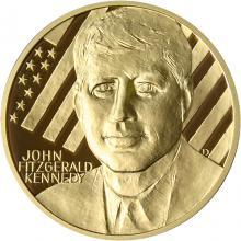 Zlatá uncová medaile John Fitzgerald Kennedy 2010 Proof
