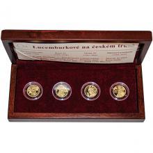 Sada 4 zlatých medailí Lucemburkové na českém trůně 2006 Proof