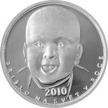 Stříbrná medaile Tolar k narození dítěte 2010
