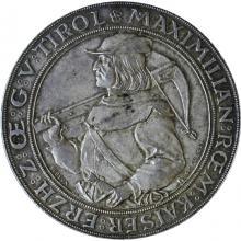 Stříbrná mince Dvouzlatník střelecký Maximilian Innsbruck 1885