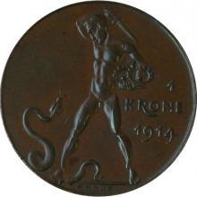 Pamětní mince 1 koruna František Josef I. 1914
