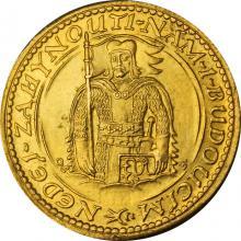 Zlatá minca Svätý Václav Jednodukát Československý 1926