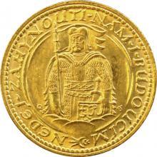 Zlatá mince Svatý Václav Jednodukát Československý 1928