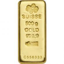 500g PAMP Suisse Investičná zlatá tehlička