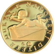 Zlatý dukát k narození dítěte 2012 Proof