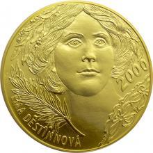 Zlatá investiční medaile 1 Kg Ema Destinnová Motiv 2000 Kč bankovky 2011 Standard