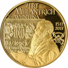 Jiří Melantrich z Aventina Zlatá půluncová medaile 2011 Proof