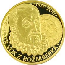 Zlatá půluncová medaile Petr Vok z Rožmberka 2011 Proof