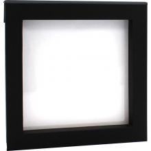 Luxusní transparentní etue - dárková krabička 100 x 100 mm černá