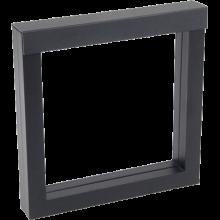 Luxusná transparentná etue - darčekové krabičky 150 x 150 mm čierna