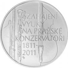Strieborná minca 200 Kč Zahájenie výuky na praž. konzervatoriu 200. výročí 2011 Štandard
